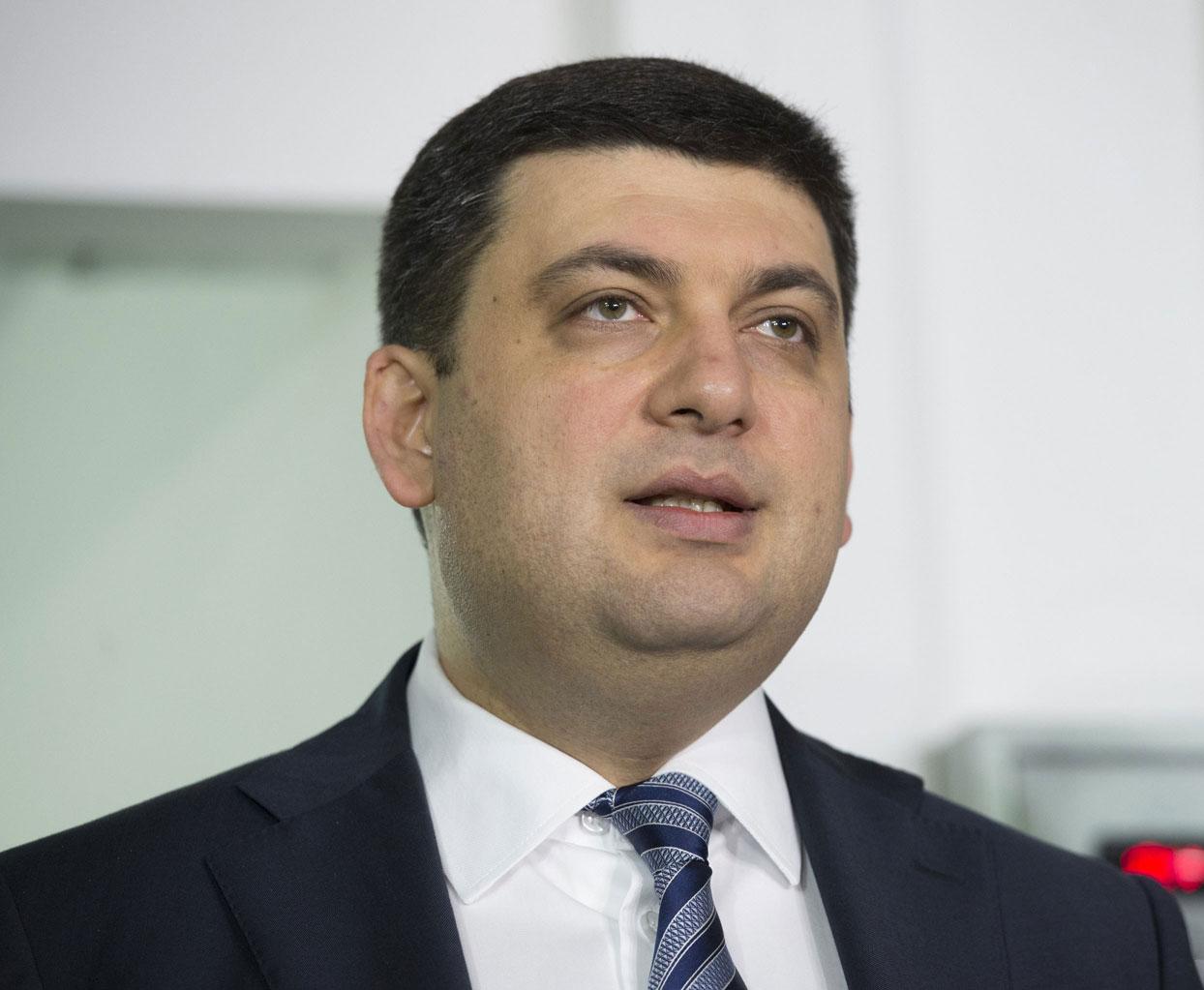 Премьер-министр Украины Владимир Гройсман, глава правительственной банды коррупционеров.